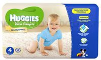 Huggies Ultra Comfort Mega Boy 4 (8-14 кг.) 66 шт.