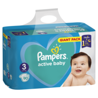 Pampers Scutece Giant Pack 3, 6-10 kg, 90 buc