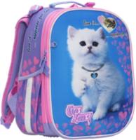 """Ghiozdan pentru școală """"Cute Kitten"""" CLASS I violet"""