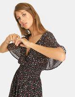 Платье Stradivarius Черный с принтом 311/394/001
