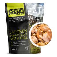 Еда походная Adventure Menu Chicken in wild sauce with rice Курица в томатном соусе с рисом, AM 685