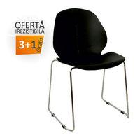 купить Пластиковый стул, хромированные ножки 510x505x815 мм, черный в Кишинёве