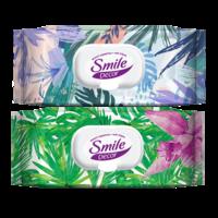 Şerveţele umede cu clapetă Smile Decor Tropic, 60 buc.
