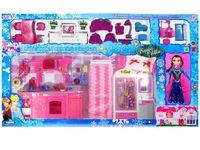 """купить Набор """"Домик для Frozen"""" c куклой 88X50X9.5cm розовый в Кишинёве"""