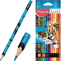 MAPED Карандаши цветные MAPED Animals, 12 цветов