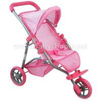 Baby Mix ME-9326C-M1701W Трёхколёсная коляска для кукол