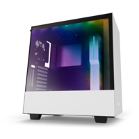 Case NZXT H500i White Black, with CAM Smart RGB