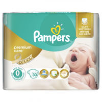 Pampers Scutece Premium Care 0, 1- 2.5 kg, 30 buc.