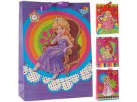 """Пакет для детских подарков """"Принцесса"""" 42X31X12сm"""