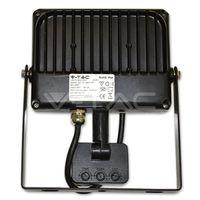 Прожектор LED V-Tac с датчиком — 10W Black/Grey Body SMD 4500K VT-4810