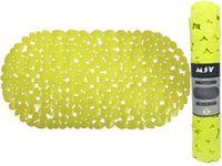 Коврик для ванны 39X99cm овал MSV Galets, зелeный, PVC
