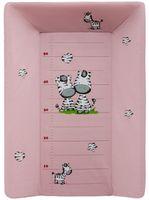Masă schimbătoare (cu tetiera) 50x70 ZEBRA, roz, cod 43752