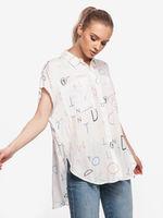 Блуза TOM TAILOR Белый с принтом 1017834 tom tailor