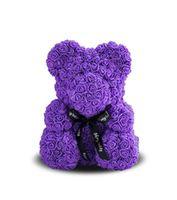 купить Медведь из фиолетовых    роз 40 см в Кишинёве