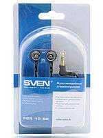 cumpără SVEN SEB 10 BK, Earphones, 50-18000Hz, 32ohm, 109dB, 3-size ear pads, 1.1m, Black în Chișinău