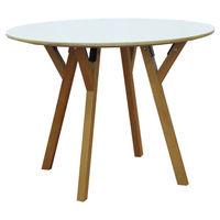 Masă ovală din lemn, picioare din fag cu suport din aluminiu 1000x750 mm, alb