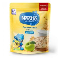Nestle каша овсяная молочная с яблоком, 5+мес. 220 г
