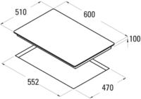 Plită incorporabilă cu gaz Cata CCI 6031 BK