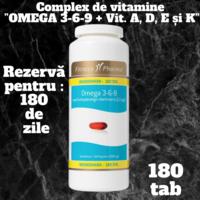 """Uleiuri """" Omega 3-6-9 """" cu adaos a vit. liposolubile A,D,E și K"""