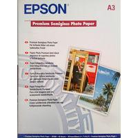 Фотобумага Epson Premium A3+ 250 гр Полуглянцевая 20 листов