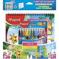 MAPED Фломастер MAPED Jungle, 12 цветов + раскраска
