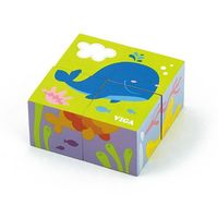 4pcs 6-side Cube Puzzle - sea