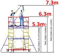 купить Передвижная модульная вышка ВСР (1,2x2,0) 1+4 в Кишинёве