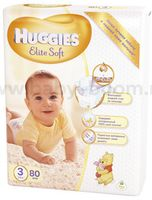 Huggies Elite Soft 3 (5-9 кг.) 80 шт.