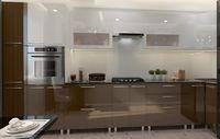 Bucătărie Bafimob Corner (High Gloss) 4.1x0.9m Eco +ball closer White/Brown