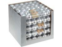 купить Набор шаров 6X60mm, серебряные (мат/глянц), в тубе в Кишинёве