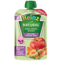 Heinz пюре яблоко, абрикос, и облепиха,6+мес. 90 г