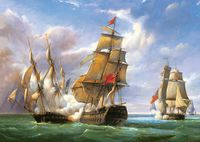 Castorland Combat between the French Frigate 'La Canonniere' and the English Vessel 'The Tremendous' C-300037