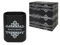 Recipient pentru accesorii de bucatarie Dolce Black&White, H16cm