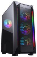 Case ATX Cougar MX410 Mesh-G RGB, w/o PSU, 4x120mm ARGB fans,RGB Hub, Mesh front panel, USB 3.0, TG
