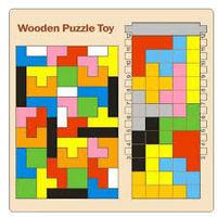 Tetris lemn 2v1, cod 128684