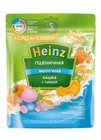 Каша Heinz Омега3 пшеничная с молоком, тыквой, с 5месяцев, 200г