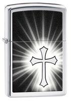 Zippo 29074 Reflective Cross H Pol Chrome