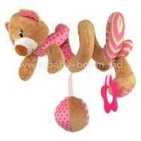 """Baby Mix STK-16432P Спираль для коляски """"Мишка"""" розовый"""