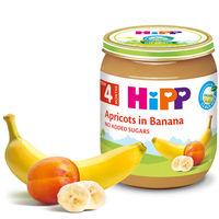Piure de caise și banane Hipp (4+ luni), 125g