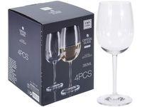 """Набор бокалов для белого вина """"Agio Gold-cut"""" 4шт, 380ml"""