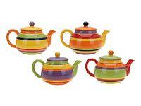 Чайник заварочный керамический 820ml,разноцветн полоск