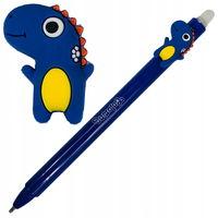 Автоматическая шариковая ручка Colorino стираемая синяя 0,5 мм Дино