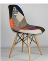 купить Мягкий стул с деревянными ножками с металлической опорой, 550x480x470x830 мм, крем в Кишинёве