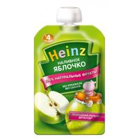 Heinz пюре наливное яблочко, 4+мес. 100г