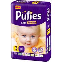 Pufies подгузники Baby ArtDry Midi 3, 4-9кг. 66шт