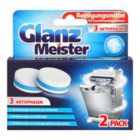 Таблетки (2шт.) для чистки посудомоечных машин GlanzMeister Dishwasher