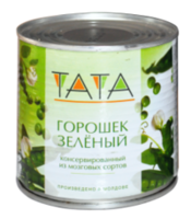 Горошек консервированный Tata 425 гр ж/б