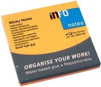 Info Notes Бумага клейкая INFO 75x75мм, 80 листов неон оранжевый
