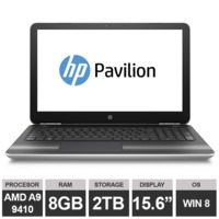 "Ноутбук HP Pavilion 15-aw065sa (15,6"" AMD A9 9410 Radeon R5 8GB 2TB Win8)Silver"