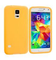 Husa de protectie silicon GO COOL pentru Galaxy S5, Orange